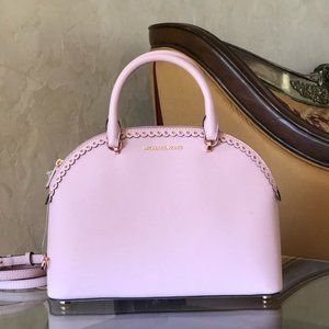 NWT Michael Kors large Emmy dome leather satchel